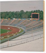 Schalke 04 - Parkstadion - North Goal Stand 1 - April 1997 Wood Print