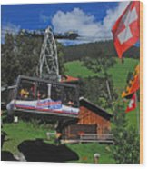 Schilthorn Cable Car Murren Wood Print