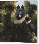 Schipperke Art Canvas Print - Forest Landscape With A Hunter And Noble Lady Wood Print