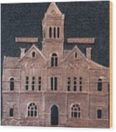 Schley County, Georgia Courthouse Wood Print