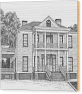 Schluter House In Jefferson Texas Wood Print by Mickie Moore