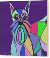 Schnauzer Colors Wood Print