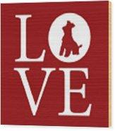 Schnauzer Love Red Wood Print