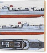 Schnellboot S100 Wood Print
