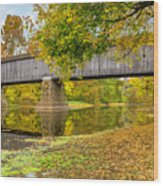Schofield Bridge Over The Neshaminy Wood Print