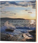 Schoodic Sunset Wood Print