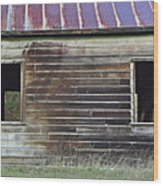 Schoohouse Wall Of Old Wood Print