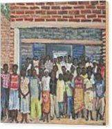 School Class Burkina Faso Series Wood Print
