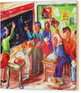 School Days In Morocco Wood Print