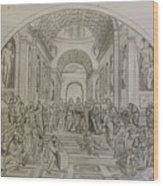 School Of Athens/ Homage To Raphael Wood Print