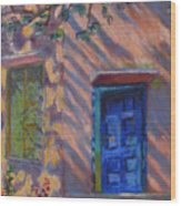 School Room Door Varanasi India Wood Print