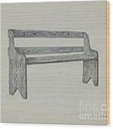 School Seat Wood Print