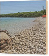 Schoolhouse Beach Washington Island Wood Print