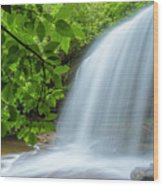 Schoolhouse Falls In Panthertown Valley North Carolina Wood Print