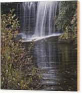 Schoolhouse Falls Wood Print