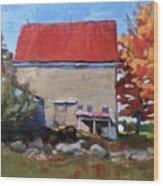 Schoolhouse Farm, Warren, Maine Wood Print