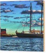 Schooner Adventure At The Paint Factory Wood Print