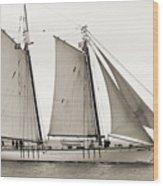 Schooner Harvey Gamage Of Islesboro Maine Wood Print by Dustin K Ryan