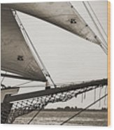 Schooner Pride Tall Ship Charleston Sc Wood Print by Dustin K Ryan