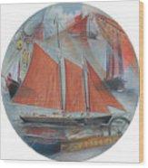 Schooner Roseway Wood Print
