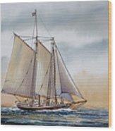 Schooner Stephen Taber Wood Print