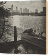 Schuylkill River In Winter Wood Print