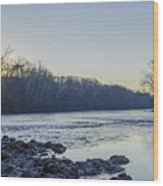 Schuylkill River Sunrise Linfield Pa Wood Print