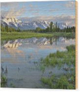 Schwabacher Landing Morning Wood Print