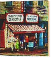 Schwartzs Famous Smoked Meat Wood Print