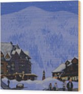 Schweitzer Nights Wood Print