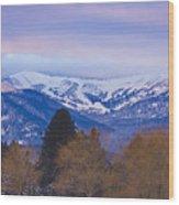 Schweitzer Ski Area Wood Print