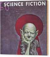 Science Fiction Cover, 1954 Wood Print