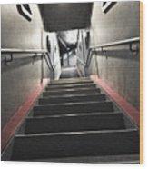Scifi Hallway Wood Print