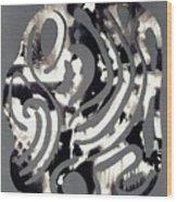 Scissor-cut Abstraction Wood Print