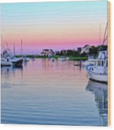 Scituate Harbor Sunset Wood Print