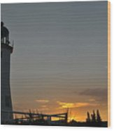 Scituate Light Wood Print by Catherine Reusch  Daley