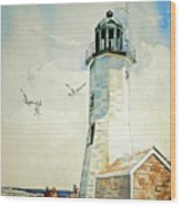 Scituate Light Wood Print by P Anthony Visco
