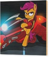 Scootaloo The Protester Wood Print