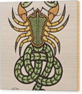 Scorpio Wood Print by Ian Herriott