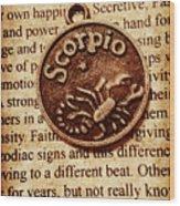 Scorpio Parchment Wood Print