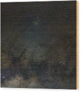 Scorpius And The Milky Way Wood Print
