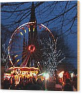 Scot Monument Christmas And Hogmanay Fair Scotland Wood Print