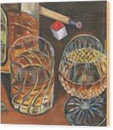 Scotch Cigars And Poll Wood Print