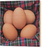 Scotch Eggs Wood Print