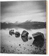Scotland Lomond Rocks Wood Print