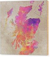 Scotland Map Wood Print