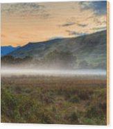 Scotland Mist In Widescape Wood Print