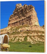 Scots Bluff National Monument Wood Print