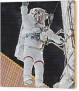 Scott Kelly, Expedition 46 Spacewalk Wood Print