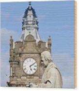 Scott Statue And Balmoral Clock Tower Wood Print